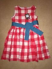BNWT Joules Girls Red Gingham Junior Constance Dress - Age 3 - RRP £39.95