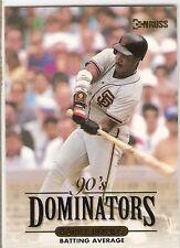 BARRY BONDS 1993 DONRUSS DOMINATORS 7 SAN FRANCISCO GIANTS MVP