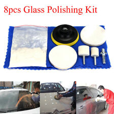 "70g Windscreen Scratch Remover Repair Cerium Oxide Glass Polishing Kit w/ 3"" Pad"