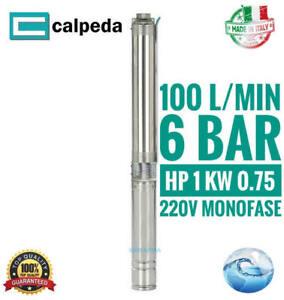 Pompa sommersa per pozzi Elettropompa acque chiare 4SDPM 4/9 1Hp 100 l/min 220V