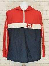 New listing Niagara Falls Canadian Maple Leaf Flag Pullover Jacket Windbreaker Mens Large