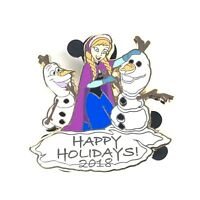 Disney pin FROZEN ANNA OLAF Happy Holidays New on Card Limited Edition LE 3500