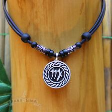 Sternzeichen Halskette JUNGFRAU Virgo verstellbar Lederkette Surfschmuck Zodiak