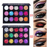 CmaaDu Shimmer Glitter Eye Shadow Powder Palette Matte Eyeshadow Cosmetic Makeup