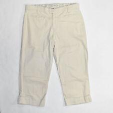 Bandolino Stretch Cotton Beige Chino Crop Capri Pants SIZE 10 Women's