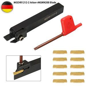 Abstechstahl Drehmeißel Klemmhalter Bohrstange 12x12mm Mit 10x Wendeplatten DE