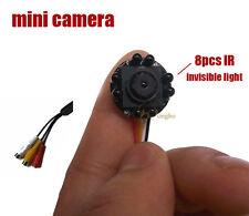 600TVL Smallest Mini camera audio 8pcs invisible light IR CCTV Security Camera