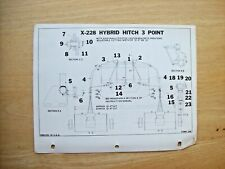 Mott Hammer Knife Mower X 228 Hybrid Hitch 3 Point Instruction Parts Manual 1962