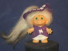 "2.3/4"" VTG SCANDIA WHITE HAIR W/ORG.NORTHWESTERN U. OUTFIT,HAT & GREEN EYES u388"