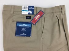 DOCKER'S NWT CLASSIC FIT NO WRINKLE INDIVIDUAL FIT WAISTBAND MEN'S D.PLEAT PANTS
