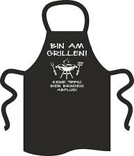 "Grillschürze ""Bin am Grillen"" G0001 Kochschürze Partyschürze Geburtstag Geschenk"
