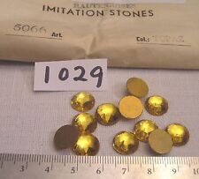 12 Vtg 11mm Crystal Glass Flat Back Rhinestone Jewelry Craft Repair + Lot Geramy