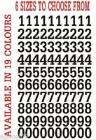 "Numbers 1/2"" 1"" 2"" 3"" 4"" 6"" Vinyl Stickers indoor outdoor boat car 19 colours!!!"