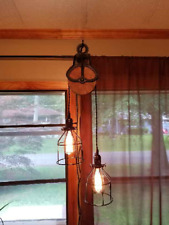 Rustic Pulley wall pendant, ceiling fixture, custom made
