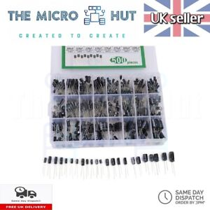 24 Values 500pcs Electrolytic Capacitors Assortment Mix Pack Kit 0.1uF - 1000uF