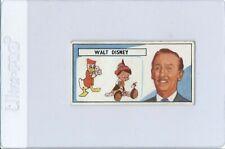 1966 Lyons Maid Famous People #42 Walt Disney Card Vintage Film Cinema Stars