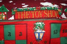 New Toy Shop Advent Calendar Fabric Panel Bears Dolls Cars Balls Sewing  -DDX