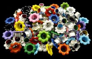 100pcs Aluminium Mixed Colors Flowers EYELET Scrapbooking CARD LeatherCraft E099