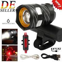 USB Fahrrad Licht Fahrradbeleuchtung T6 LED MTB Fahrradlampe Frontscheinwerfer D