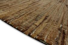 Tapis Rivera patchwork cuir véritable 160x230 cm vintage peau de vache marron