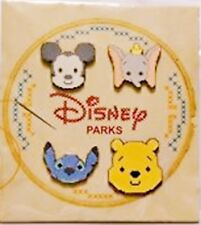 Disney Cross Stitch Effect 4 Pin Booster Set -New on Card-Sealed Pin 113972