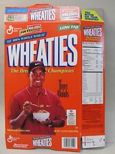 TIGER WOODS Wheaties Cereal Box.  pro Golfer pictured eating cereal.  empty flat