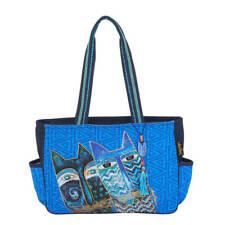 Laurel Burch - Medium Tote - Blue Cats - NWT