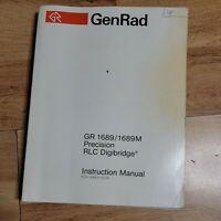 GenRad GR 1689 1689M Precision RLC Digibridge Instruction Manual
