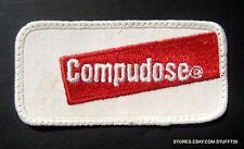 """Compudose Farm Cattle Embroidered Sew On Patch Advertising 3 3/4"""" x 1 7/8"""""""