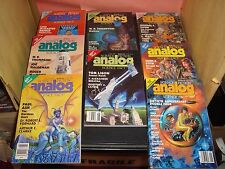Analog Science Fiction and Fact Magazine 1990 Lot of 8 Issues EX Condition