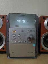 Panasonic CD Bookshelf Stereo System SA-PM19, 5-CD Changer AM/FM Radio, Cassette