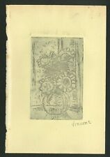 Vincent Van Gogh Old Etching - Hand signed in pencil - extremely rare!!!