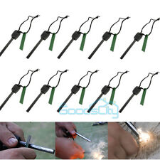 10 X Survival Magnesium Flint Stone Fire Starter Emergency Lighter For Camping