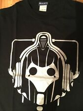 DOCTOR WHO CYBERMAN OFFICIAL BBC SILVER T-SHIRT!