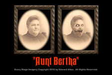 Aunt Bertha 5x7 Haunted Memories Changing Portrait Halloween Lenticular