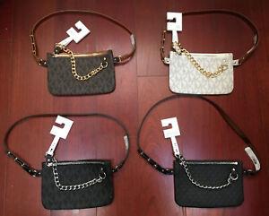 NWT MICHAEL KORS MK Logo Belt Bag/Fanny Pack Waist Pouch, ASSRTD Styles & Sizes