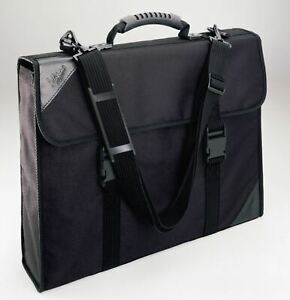 A0 Mapac Designer Maxi Black Portfolio Display Case Waterproof Fabric Storage