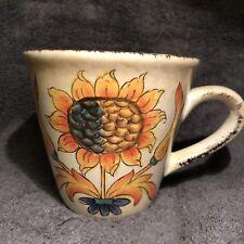 Tuscan Cream Sunflower Mug Cup Large