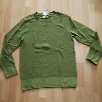 NEU Nudie Jeans Knitted Pullover Pulli Hampus Printed Wool Pea M
