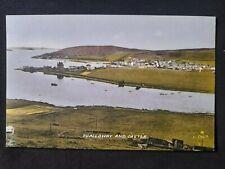 More details for vintage shetland postcard scalloway and castle.