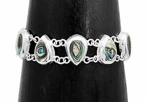 Artisan Abalone Shell Bracelet from Taxco Mexico