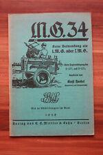 Dienstvorschrift D 127 Hauptmann Ernst Hoebel MG 34 1938