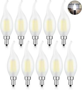 CRLight 2W 4000K LED Candelabra (E12) Bulb Daylight White Glow - Box of 10 Bulbs