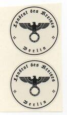 KENNZEICHENHALTER AUFKLEBER BERLIN TRANSPARENT 2 STÜCK - EIN PAAR  NEU