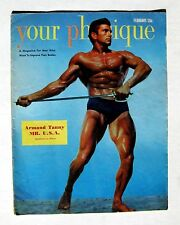 1951 Your Physique Body Builder Magazine w/ Mr USA Armand Tanny on Cover