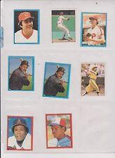 [Lot] 8] 1981/82 Topps Stickers, Johnny Bench, Carlton, Stargell, Carew ,Ex/Mt