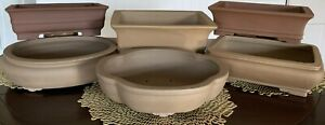 """12"""" Unglazed Ceramic Bonsai Pot. Choose from several styles and colors."""