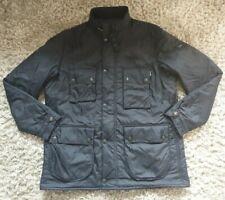 Barbour International Mens Navy Padded Parka Jacket - Size XL