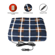 Electric Heated Car Blanket 12V Portable Fireproof Travel Heated Fleece Blanket
