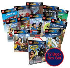 Lego DC Comic Super Heroes Readers Box Set # 2 - 10 Readers, 2 Workbooks NEW